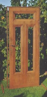 Deko Tur Edelrost 181x76cm Haustur Gartentur Tur Rost Metall