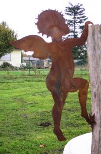 Engel kletternd zum Einhängen 50cm Hängen Rost Edelrost Metall Figur Rostfigur