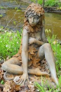 Baumhüterin AHORN H65cm Rosteffekt Elfe Skulptur Steinfigur Steinguss Vidroflor