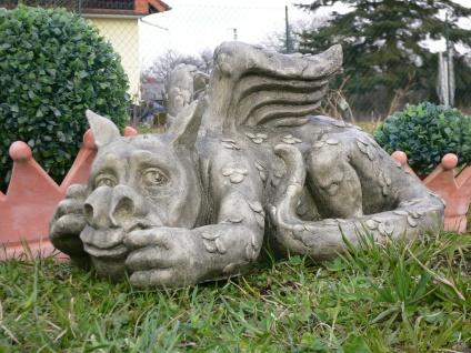 Kleiner Baby Drache Taffy Gargoyle 26, 5cm Polyresin Kunststein Drachen Figur