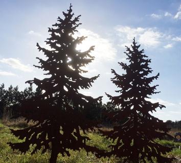 TANNE 1, 5m Gartenstecker Weihnachtsbaum Tannenbaum Christbaum Rost Edelrost - Vorschau 2