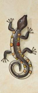 Wanddeko SALAMANDER Nizza m. bunten Steinen Eidechse Echse Gecko Wandobjekt 52cm