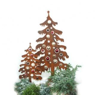Tannenbaum H120cm Tanne Weihnachtsbaum Christbaum zum Dekorieren Rost Edelrost