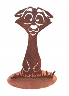 Erdmännchen Höhe 60 cm Rost Edelrost Metall Rostfigur Gartendeko Dekoration