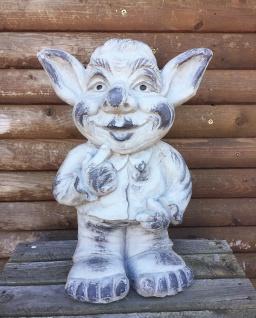 Troll Gnom Wichtel 45cm Magnesia Garten Figur Zwerg Kunststein wetterfest