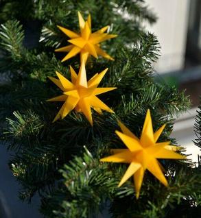 3er LED Sternenkette 12cm gelb Batterie für Außen Lichterkette Stern Weihnachten