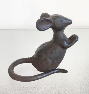 MAUS Gusseisen braun-schwarz Metalldekoration Eisen Dekoration Mäuschen Tier