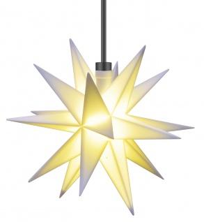 3D LED MINI STERN weiß Ø 12 cm für Außen 18 Zacken Weihnachtsstern Batterie