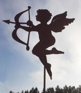 ENGEL AMOR 47x43cm Gartenstecker Rost Edelrost Metall Rostfigur Figur Valentin