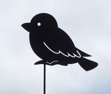 SPATZ 15x10cm Vogel Vögel Rost Edelrost Gartendeko Gartenstecker Dekoration Tier