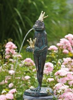 Bronzefigur Wasserspeier Froschkönig Ottmar H39cm Rottenecker Bronze Frosch