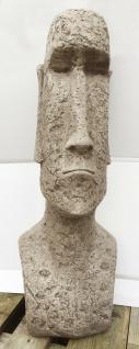 MOAI Kopf 80cm Osterinsel Kopf Skulptur F. Scott Steinfigur Steinguss Vidroflor