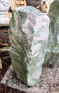 ATLANTIS GRÜN H 57cm Quellstein Naturstein Wasserspiel Steinbrunnen Gartendeko