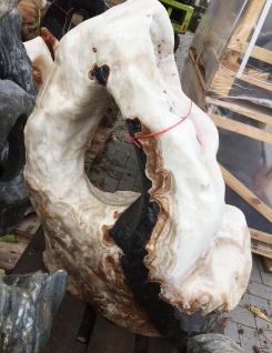 OZEANFINDLING Findling 94x80cm 293kg Naturstein Meeresgestein Stein Onyx