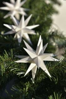 9er LED Sternenkette WEISS 3D Lichterkette Stern Weihnachtsstern außen & innen - Vorschau 2