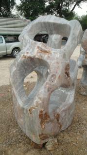 Ozeanfindling Findling H180cm Naturstein Meeresgestein Show Stone Stein Skulptur