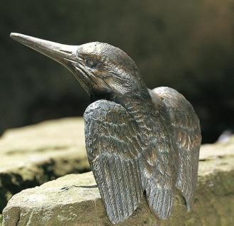 Bronzefigur Eisvogel H15cm Rottenecker Bronze Vogel Vögel Dekoration