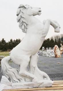 Steinfigur Pferd springend steigend 130cm hoch Pferde Hengst Steinguss Tier