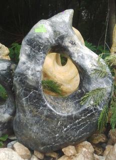 OZEANFINDLING Findling 99x77cm 234kg Naturstein Meeresgestein Skulptur Stein