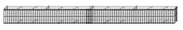 Mauergitter Mauer max 464cm lang 20cm hoch Gabione Hochbeet Gartendeko Bellissa - Vorschau 3
