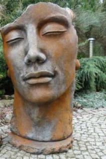 Portrait Gesicht MANN H115cm Rosteffekt Skulptur Steinfigur Steinguss Vidroflor