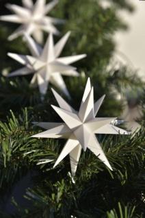 LED Lichterkette 9 Sterne WEISS 12cm außen 3D Weihnachtsstern Sternenkette Stern