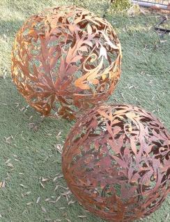 KUGEL RANKE ORNAMENT D40cm zum Beleuchten Edelrost Rost Dekoration Deko Garten
