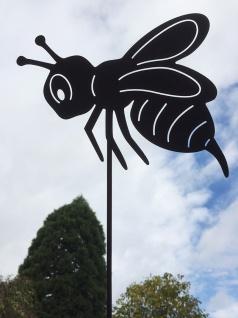 BIENE 27x20cm + Stab Hummel Edelrost Rost GARTENSTECKER Insekt Fliege Tier