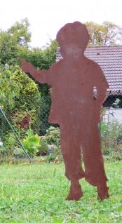 Junge Christian 120cm Rost Edelrost Menschen Kind Metall Rostfigur Gartendeko