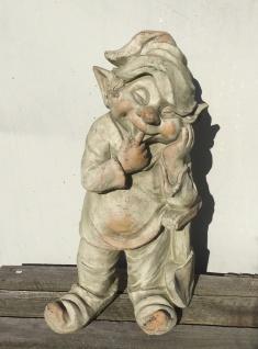 Troll Wichtel stehend 46cm mit Schaufel Garten Figur Zwerg Magnesia wetterfest