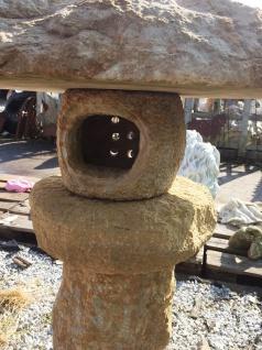 Asia Laterne aus Gelben Sandstein gehauen 100cm Steinlaterne Rankei Pagode - Vorschau 3