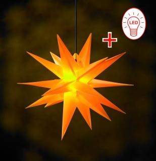 LED Außenstern GELB XXL 3D Weihnachtsstern 100cm INKL. LEUCHTMITTEL Stern