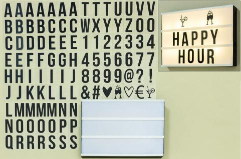 LED Lightbox Kino Lichtbox L30cm Lichtkasten inkl. Buchstaben Wand Dekoration