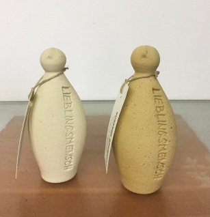 LIEBLINGSMENSCH 12 cm Figur Keramik Ton Handarbeit Susanne Boerner Geschenk