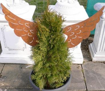 1 Paar ENGELSFLÜGEL 42x22cm Gartenstecker Weihnachten Engel Flügel Rost Edelrost - Vorschau 2