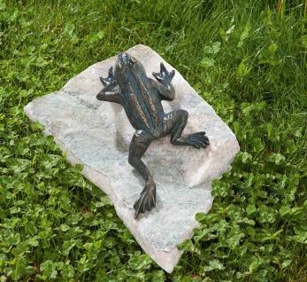 Bronzefigur Frosch Kletterfrosch 17, 5cm Rottenecker Bronze Skulptur Gartenfigur