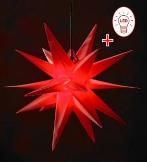 LED Außenstern ROT XXL 3D Weihnachtsstern 100cm INKL. LEUCHTMITTEL Stern