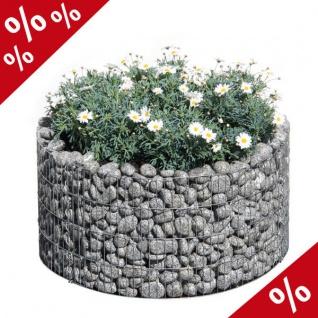 Hochbeet Gabione Basic rund D 81/67 cm H 40 cm Blumentopf Blumenkübel Bellissa