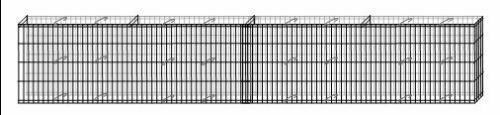 7Stück Mauergitter Mauer max. 16, 24m lang 40 cm hoch Gabione Gartendeko Bellissa - Vorschau 3