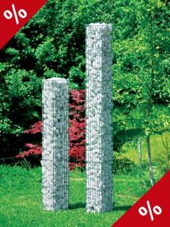 STEINSÄULE eckig H 125 cm Säule Gartensäule Pfosten Gabione Gartendeko Bellissa