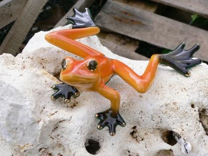 Skulptur Frosch 13cm handbemalt Porzellan Figur Lino Pinelli's Pond Collection