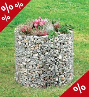 HOCHBEET Ø 92 cm H 80 cm Gabione Gabionen Gartendekoration Blumentopf Bellissa