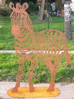 Zebra Afrika 150x95cm Edelrost Rost Metall Figur Rostfiguren Rostfigur Zoo Tiere