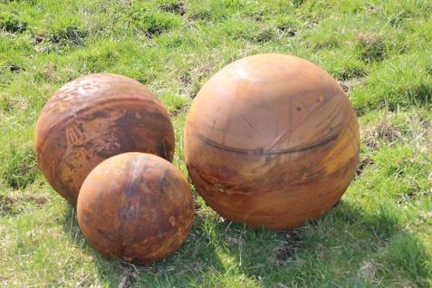 Vollkugel KUGEL D50cm Edelrost Rost Metall Ball Dekoration Gartendekoration