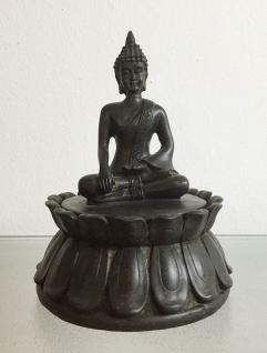 2er Set BUDDHA AUF DOSE H16cm Dekoration Figur Feng Shui Schmuckkästchen Schatz - Vorschau 2