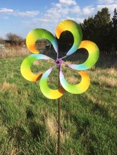 Windrad bunte Blume Metall D43cm L148cm Windmühle Windspiel Gartenstecker - Vorschau 4