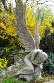 Engelfrau Serafina 135cm hoch Engel Skulptur Steinfigur Steinguss Vidroflor