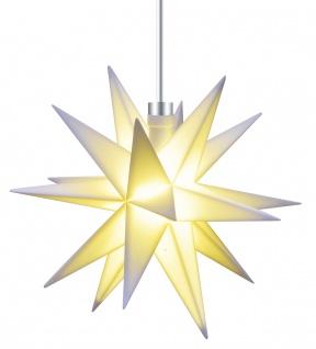 3D LED MINI STERN weiß 12 cm Batterie Weihnachtsstern Leuchtstern klein Innen