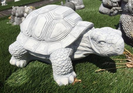 Schildkröte XXL 62cm lang 68kg Steinguss Steinfigur Gartendekoration Stein Tier
