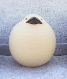 Spatz 14 cm Keramik Ton Figur Handarbeit Susanne Boerner Vogel Garten wetterfest